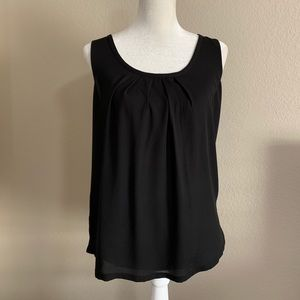 EXPRESS Mixed Media Tie Back Tank Top Black
